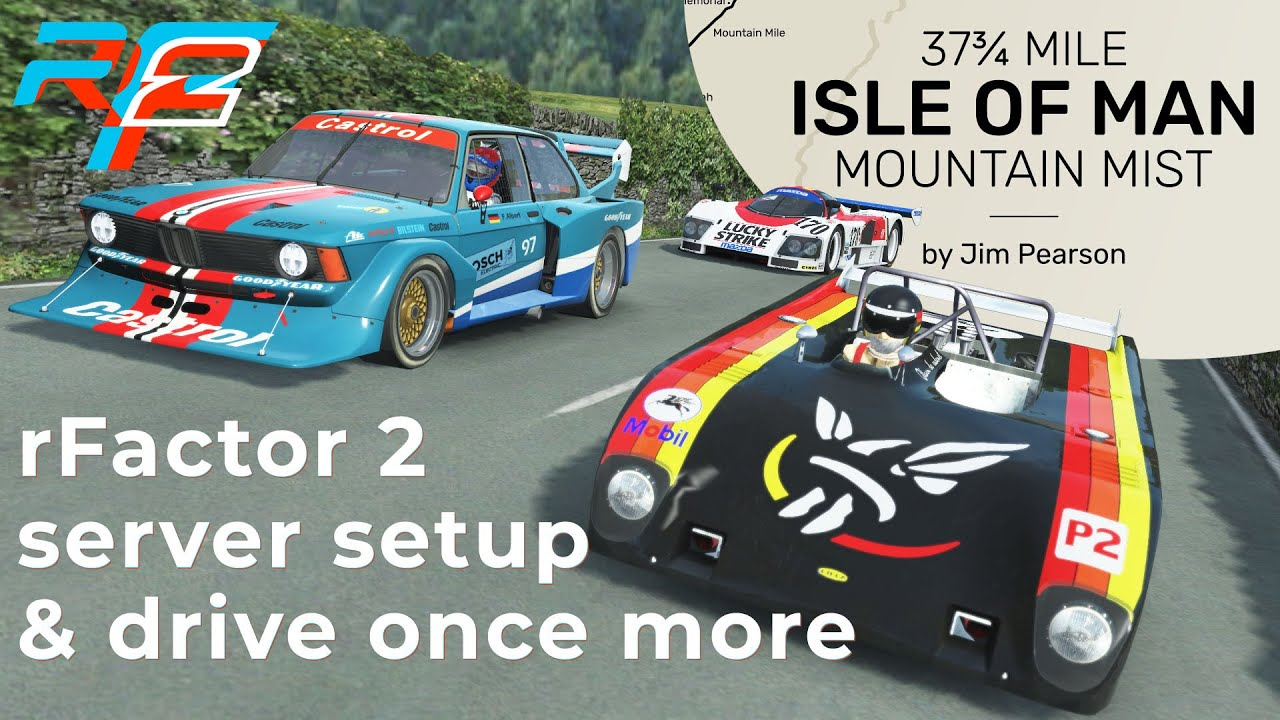 Davy Jones: rFactor 2 server setup for Isle Of Man and laps in a Lola