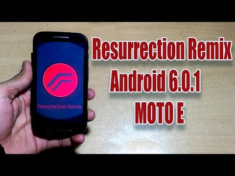 How to Install Android 6.0.1 Resurrection Remix Rom in MOTO E