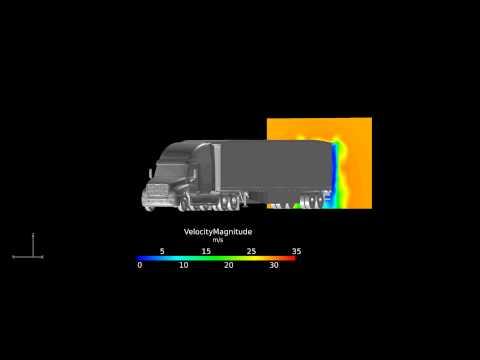 Simulation aérodynamique de camions-remorques pour Cascades Transport et Manac