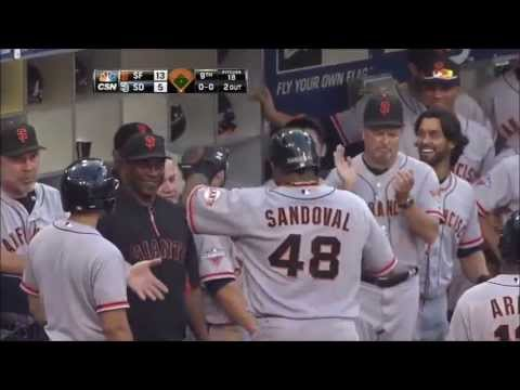Pablo Sandoval 3 Home Runs vs. Padres (2013)