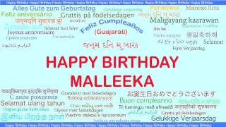 Malleeka   Languages Idiomas - Happy Birthday