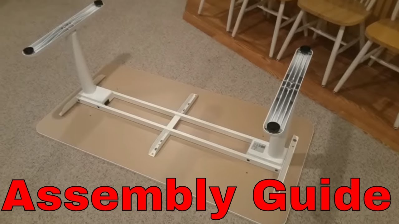 Ikea Bekant Adjustable Desk Assembly Instructions Youtube