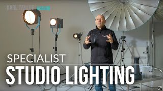 An Explanation of Specialist Studio Lighting including the Pulso Spot 4, fresnels and projections.