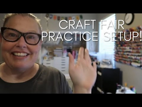 Craft Fair Practice Display! Etsy Seller