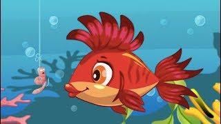 Kırmızı Balık ile Renkleri Öğreniyorum - Kırmızı Balık, Yeşil Balık, Mavi Balık - Çocuk Şarkısı