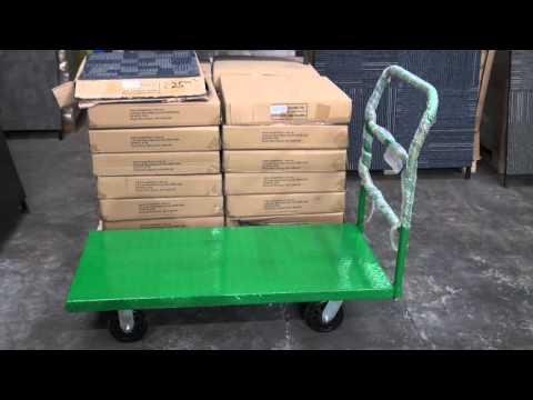 Platform Trolley 1160mm Long X 595mm Wide - Carpet Tiles 1