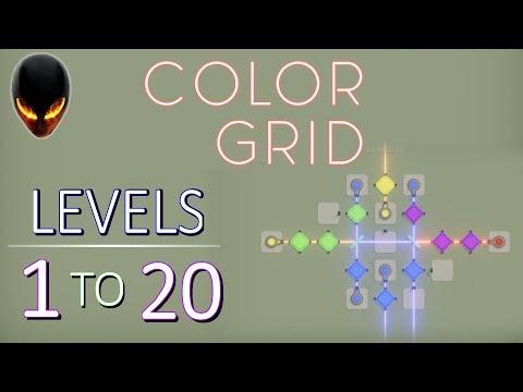 COLORGRID Level 1 2 3 4 5 6 7 8 9 10 11 12 13 14 15 16 17 18 19 20 (Minimal Puzzle Game)