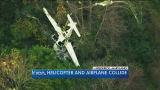 Official: 3 killed when plane, helicopter collide in Maryland