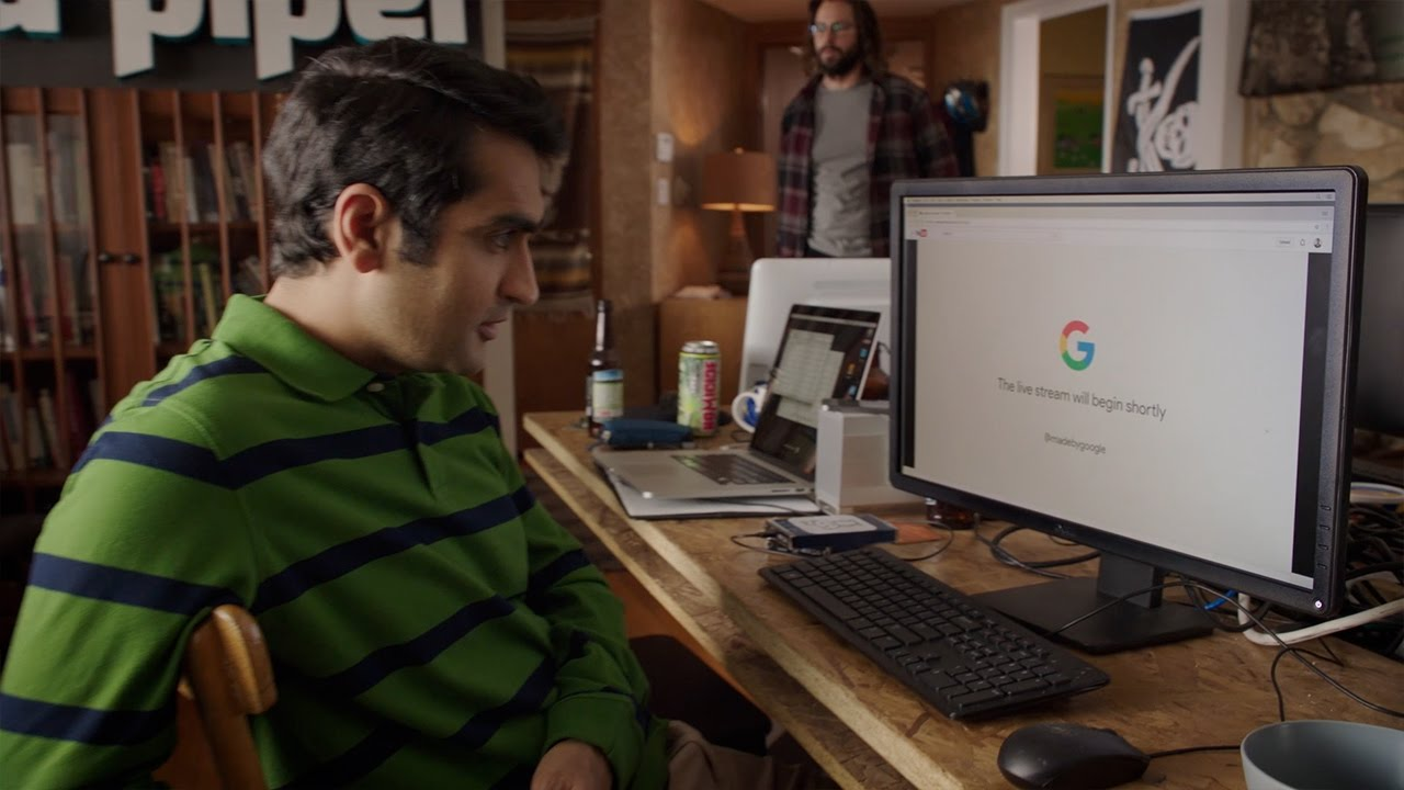 Made by Google 2016 | Silicon Valley Intro - As Dinesh waits anxiously for the live stream to begin, Gilfoyle has other plans.