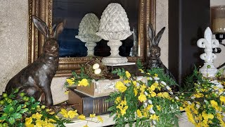 EARLY SPRING MANTEL DECORATING - FRENCH COUNTRY SPRING DECOR - DECORATE WITH ME