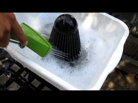 Clean a   K&N Air Filter  -WITHOUT A SERVICE KIT-