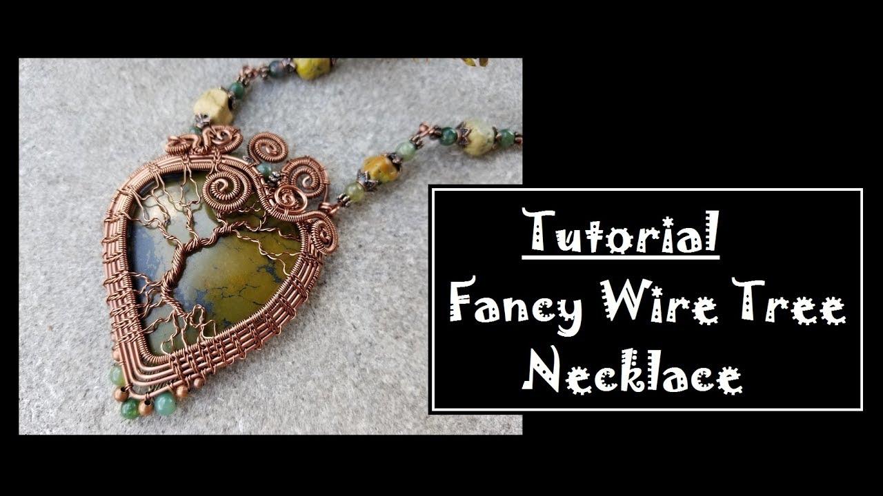 DIY Fancy Wire Tree Necklace - YouTube