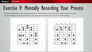 Instant Mind Power : Exercise 5: Mentally Recording Your Process