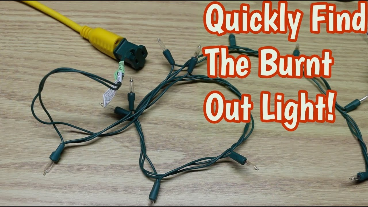 How To Find Bad Bulb In Christmas Lights.How To Easily Find Bad Christmas Light Bulbs
