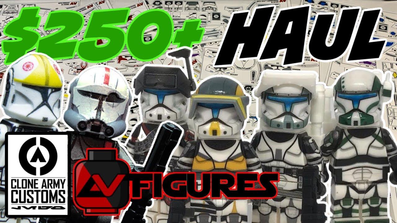 $250+ Custom Clone Haul / AV figures + CloneArmyCustoms haul! Giant Decal Haul