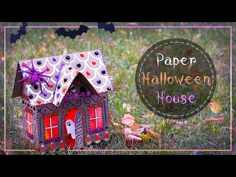 How To Make A Halloween Paper Gingerbread House 🎃