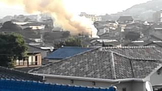 2013年10月28日7時20分頃北九州市小倉北区下富野2丁目の火災.