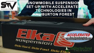 Snowmobile Suspension Set-Up with Accelerated Technologies in Haliburton Forest