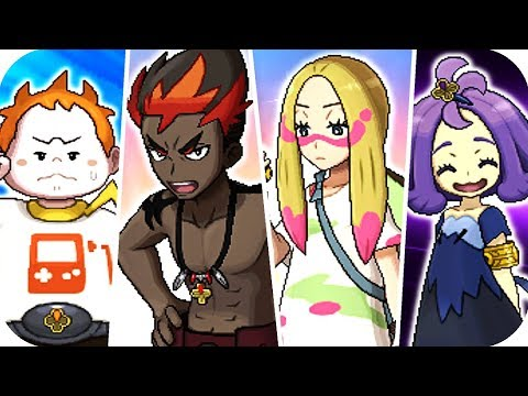 Pokémon Sun & Moon - All Trial Captains Battles (1080p60)