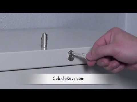 Lock Core Removal & Install on a Steelcase File Cabinet
