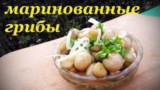 Рецепт маринованных грибов, быстрый вкусный и простой.