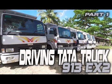 Driving TATA Truck 913 Ex2 Road To Muara Bumban  Part 1