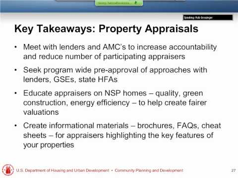 Mortgage Financing Roundtables - Lessons Learned Webinar - 1/19/12