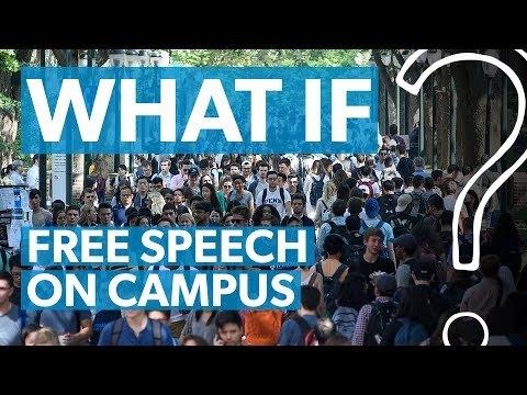 Free speech on campus: Can it be saved?  WHAT IF?