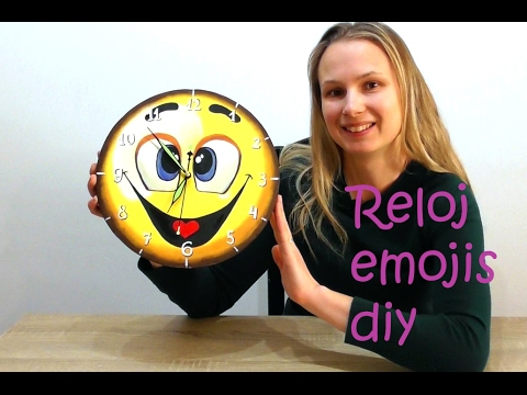 Clock in the form of Emotion Rubber Eva Clock with smile