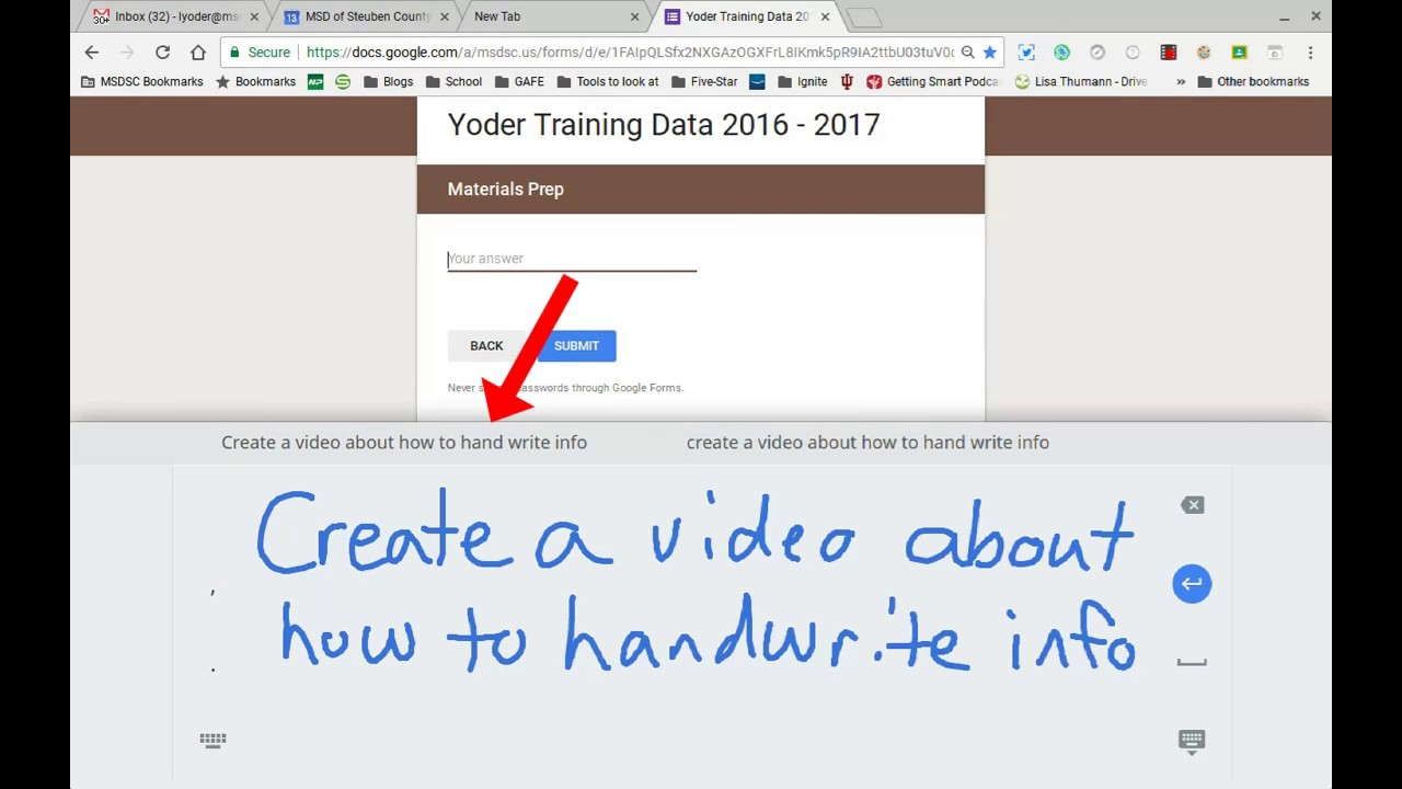 Hand-Write on a Chromebook