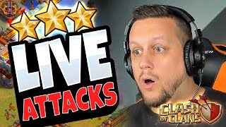 LIVE ATTACKS! Can we SIX PACK in Clash of Clans?