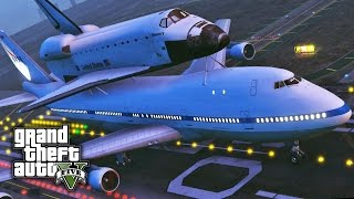 GTA V PC E22 - Boeing 747 Space Shuttle Carrier | Mod Showcase