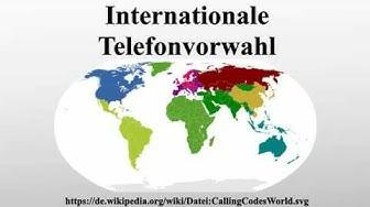 Internationale Telefonvorwahl