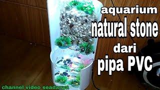 Gambar cover Aquarium natural stone dari pipa pvc