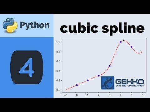 Cubic Spline with Python GEKKO - YouTube