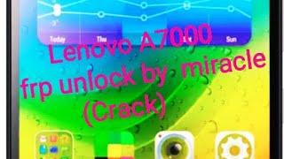 Lenovo frp unlock crack 2019