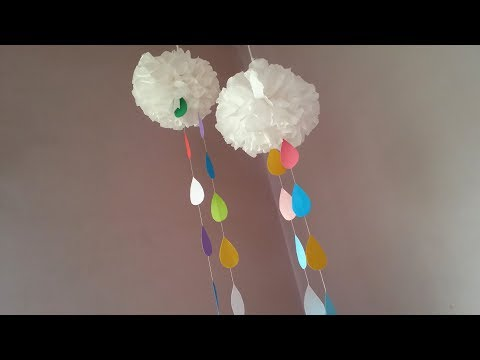 DIY: Tissue Paper Clouds!!! How to Make Tissue Paper Clouds!!!