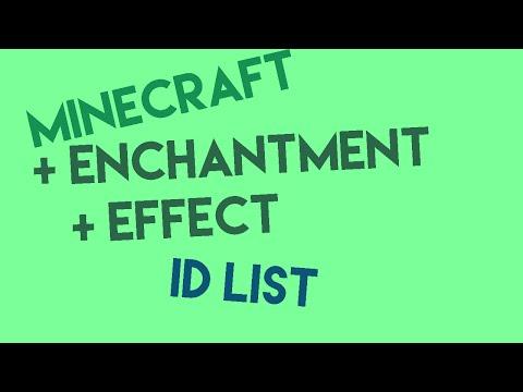 Minecraft Enchantment/Effect Id List