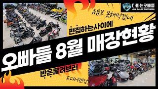 다파는오빠들 8월 매장현황 업데이트! #오토바이 #자동…