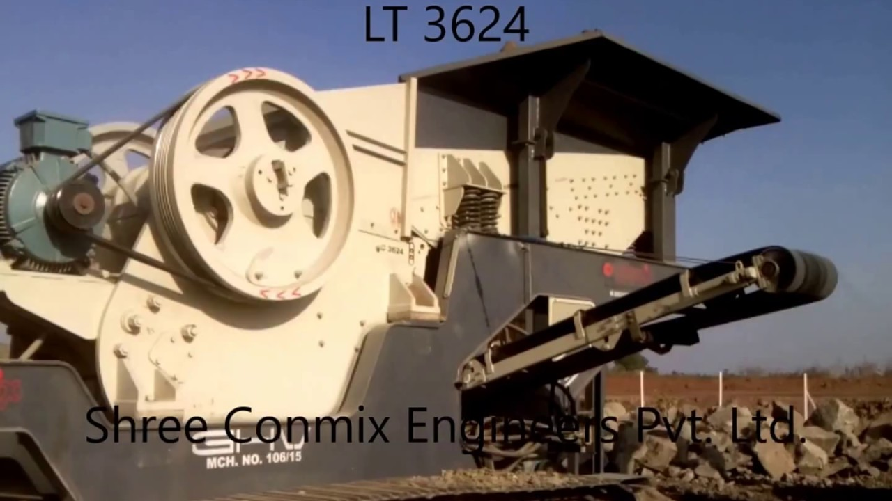 Portable Crusher India Manufacturer Conmix Jaw Crusher