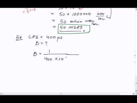 Tutorial 4: Convert Cycles Per Instruction to Bandwidth