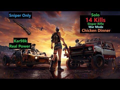 "[Hindi] PUBG Mobile | ""14 Kills"" With Kar98k Sinper Rifle in War Mode"
