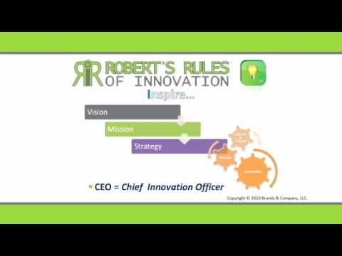 Robert's Rules of Innovation- 10 Imperatives