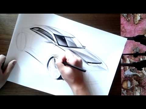 "온스케치 TV Car Sketch - ""2010 Audi quattro concept Sketch (Color Pencil)"""