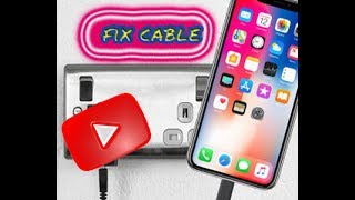 TUTORIAL Reparar cable IPHONE X fix iphone x and iphone 4s sugru