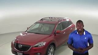 A96851GT - Used, 2015, Mazda CX-9, Red, SUV, 3rd Row, Test Drive, Review, For Sale -