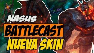 Nasus battlecast - Nueva skin de nasus - gameplay lol