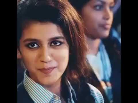 Priya prakash warrier . Facebook viral video cuteness overload