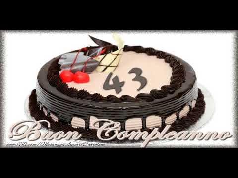 Cartoline Animate E Musicali Buon Compleanno 43 Anni Youtube