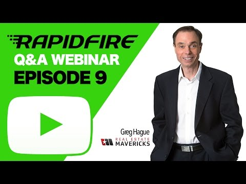 GregLive! Rapid Fire Real Estate Q&A - Episode 9
